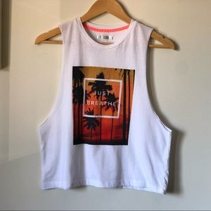 💜Forever 21 cropped muscle tee - size small